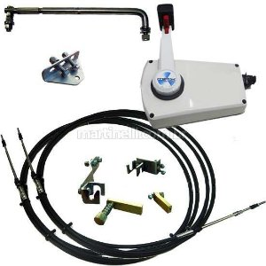 Kit de adaptação motor Yamaha 25 HP manual para comando a distância, completo com cabo de comando 14 Pés.