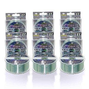 Kit de Linha Monofilamento Platinum XT BOX 0,25mm a 0,50mm