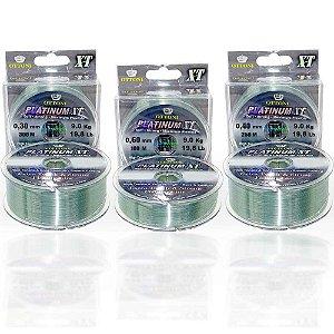 Kit de Linha Monofilamento Platinum XT BOX 0,30/0,40/0,60mm