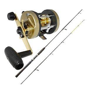 Kit de pesca Carretilha Marine Sports Magna 5000 - Perfil Alto - 5 R... + Vara Marine Sports Laguna 2 Nova C602H 20-40 lb - (carr...