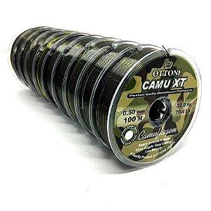 Kit de Pesca: Linha Monofilamento Camu XT 0,35mm - 100m - 34,3 lbs... + Linha Monofilamento Camou XT 0,40mm - 100m - 43,1 lbs...