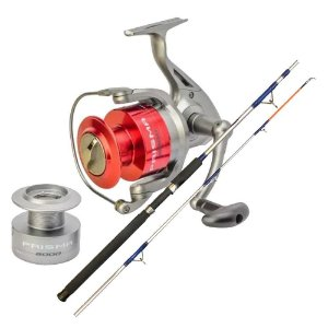 Kit de pesca Molinete Marine Sports Novo Prisma 5000 FD- 5 Rolamento... + Vara MS Combat CB-602UH 20-45lb 1,83m 2 partes - Moline...