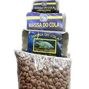 Kit de Ração furadinha+Massa pesca Do Cola tilapia,P40,Tamba