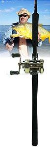 Kit Dourado - Carretilha Marine Sports Fierro 6000 - DIREITA - Perfil Alto com vara Marine Sports Sensor 40 lbs (2 partes)
