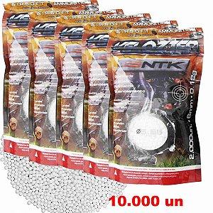 Kit Esferas BBS Airsoft NTK Velozter 0,12g 6mm com 10000 un