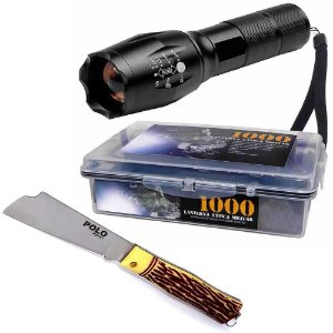 Kit Lanterna Tatica + Canivete 3153
