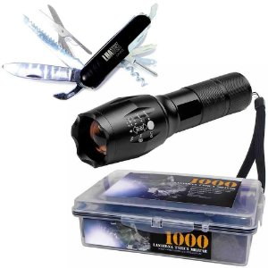 Kit Lanterna Tatica + Canivete 11 funções