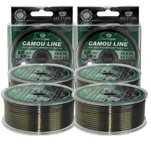 Kit Linha Mono Camou Line 2x 0,30mm + 2x 0,25mm