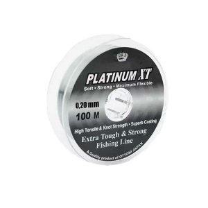 Kit Linha Monofilamento Platinum XT 5x 0,20 + 2x 0,25 + 0,40