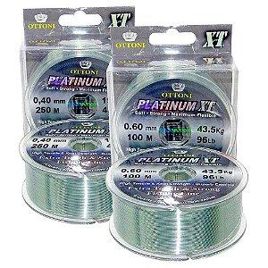 Kit Linha Monofilamento Platinum XT BOX 0,60mm + 0,40mm