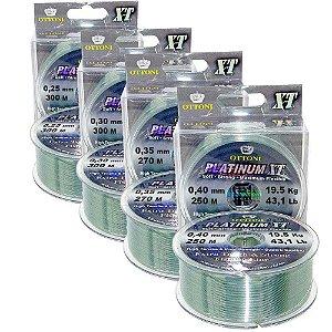 Kit Linha Mono Platinum XT BOX 0,25 0,30 0,35 e 0,40mm