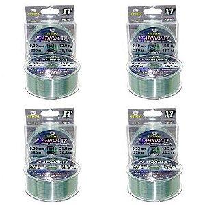 Kit Linha Mono Platinum XT BOX 0,30 + 0,35 + 0,40 + 0,50 mm