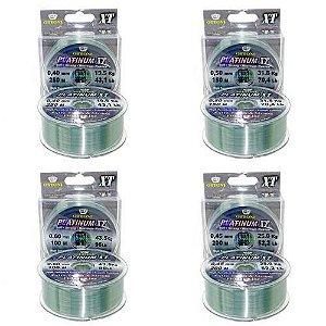 Kit Linha Mono Platinum XT BOX 0,40 + 0,45 + 0,50 + 0,60 mm
