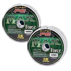 Kit Linha mult MaxForce 0,18mm + Linha mult MaxForce 0,14mm