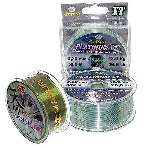 Kit Linha Platinum XT 0,30mm 300m + Linha Master Lon 0,30mm