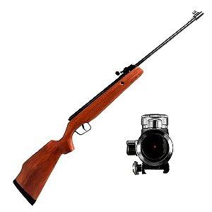 Kit Martinelli Sniper: Carabina de pressão CBC Montenegro ... + Mira Holográfica Red Dot 1x30...
