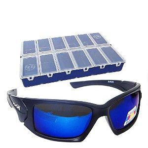 Kit Óculos Maruri Polarizado 6556+Estojo HI 12 divisórias