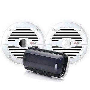 Kit Som Par Alto Falante Boss 180W 6.5 + Protetor Capa Radio