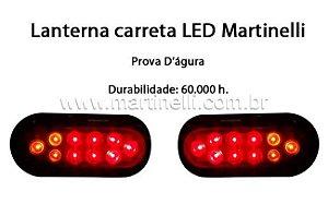 Lanterna de carreta LED par, Freio/Seta/Lanterna/Placa