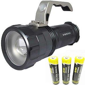 Lanterna Holofote Farolete Tático 8806 Super potente 3 baterias