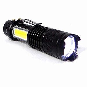 Lanterna Lampião Mini USB Hz-03-1068 Clip Zoom e Estojo