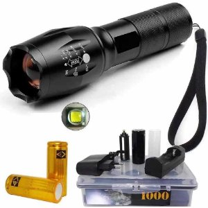 Lanterna Tática CREE Led Martinelli 1000 T6-G2 c/ 3 Bateria recarregáveis 26650