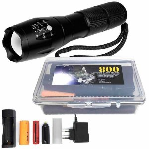 Lanterna Tática Militar Martinelli 800 CREE Led T6-G2 Recarregável + Case Especial + Bateria Recarregável Extra