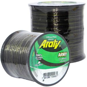Linha Araty Army 1/4 0,30mm 1400m Bicolor Camuflada