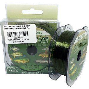Linha Intergreen Super A monofilamento 0,28mm 13lbs 300m - cor: verde cristal