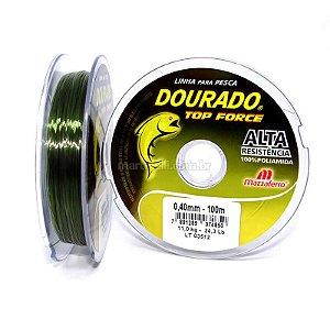 Linha Mazzaferro Dourado Top Force 0.35mm 8,7kg 100m - verde