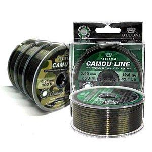 Linha Monofilamento Camou Line 0,40mm - 250m + 0,25mm - 300m