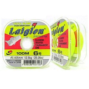 Linha monofilamento Laiglon amarela 0,405mm - 25 lbs - 100m - made in japan
