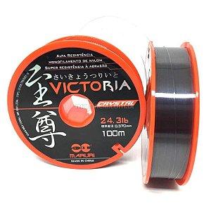 Linha Monofilamento Maruri Victoria Crystal 0,46mm 37,3LBS 100m