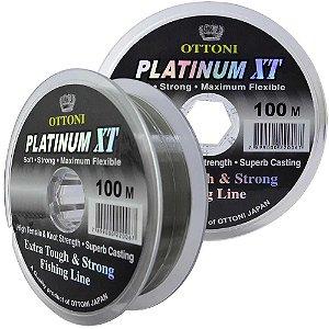 Linha Monofilamento Platinum XT - 0,35mm 15,53kg - 100m