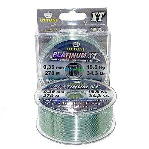 Linha Monofilamento Platinum XT BOX 0,35mm 15,53kg 270m