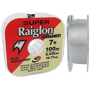 Linha Monofilamento Super Raiglon 0,405mm 6.0 100m Cor: Branca