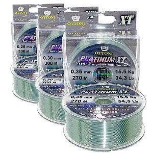 Linha Monof PlatinumXTBOX0,25mm-300/0,30mm-300/0,35mm-270m