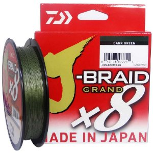 Linha multifilamento Daiwa J-braid Gr X8 Darkgreen 135m 0,32mm 40lb