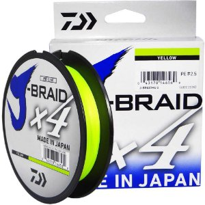 Linha Multifilamento Daiwa J-Braid X4U 0,25 mm 30 lb 135m - Yellow