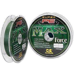 Linha multifilamento Maruri Max Force 0,26mm 39lb teste 21,7kg 100m