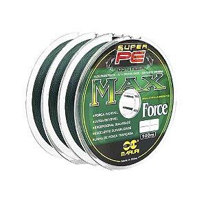 Linha Multifilamento Maruri Max Force 4x - 0,14mm 18lb - 300m contínuos