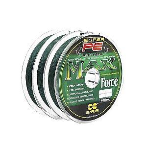 Linha Multifilamento Maruri Max Force 4x - 0,35mm 67lb 30,39kg - 300m contínuos
