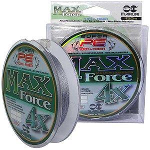 Linha multifilamento Maruri Max Force 4x 150m 0,14mm 18lb 8,32kg - cinza