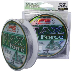 Linha multifilamento Maruri Max Force 4x 150m 0,40mm 53lb 24,1kg - cinza