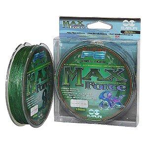 Linha multifilamento Maruri Max Force 8x 300m 0,27mm 30lb 13,6kg - verde