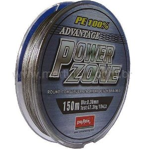 Linha multifilamento Power Zone. 130lb 0,50mm 150m cor cinza