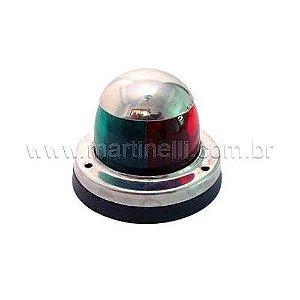 Luz de navegação inox bicolor-bbbe 12V 8W Lanchas Ventura