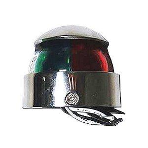 Luz de navegação inox bicolor cromada p/ lanchas Fibrafort