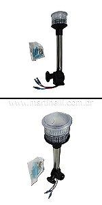 Luz de popa Leds 23cm efeito Estrobo base articulada preto