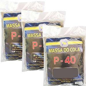 Massa para pesca Do Cola P40 3 pctes de 500 gramas - Total 1,5 kg